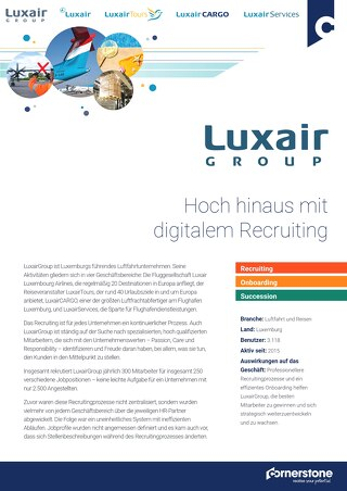 Fallstudie Luxair: Hoch hinaus mit digitalem Recruiting