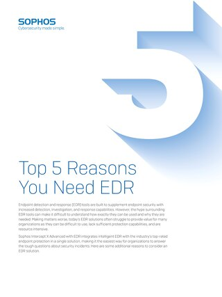 Top 5 Reasons You Need EDR