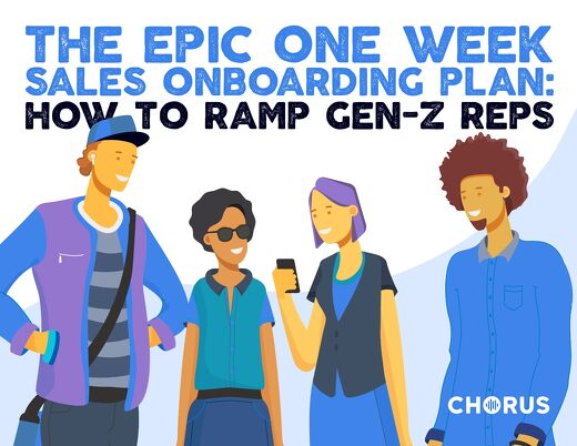 The Epic One Week Sales Onboarding Plan - How to Ramp Gen Z Sales Reps