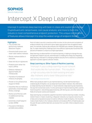 Intercept X Deep Learning