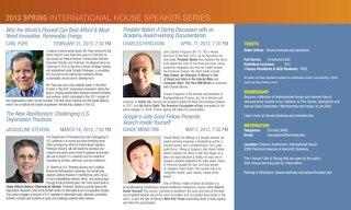 I-House Speaker Series Spring 2013