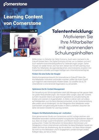 Datenblatt - Cornerstone Content