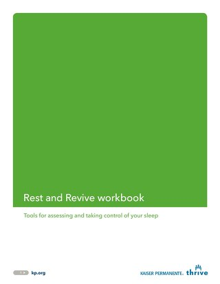 Rest and Revive: Employee Workbook