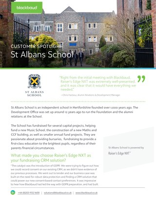 St Albans School | Raiser's Edge NXT