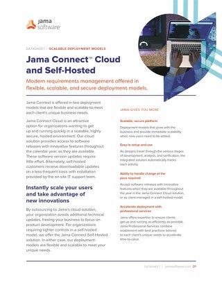 Jama Connect Cloud and Self Hosted