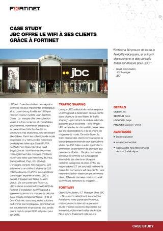 Case study JBC offre le wifi à ses glients grâce à Fortinet