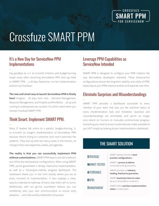 Crossfuze SMART PPM for ServiceNow