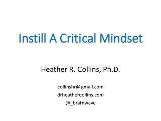 Instill A Critical Mindset Handout