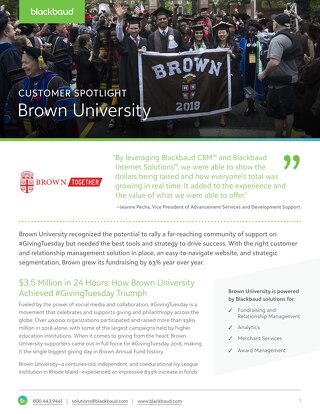 Brown University #GivingTuesday