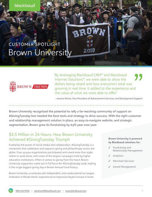 Brown University #GivingTuesday