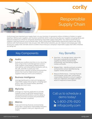 One Pager - Responsible Supply Chain - April 2019