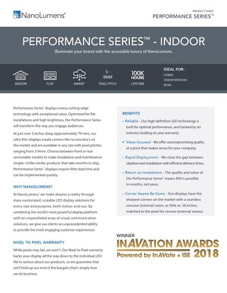 Performance Series Indoor