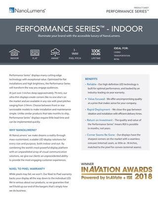 NanoLumens Performance indoor