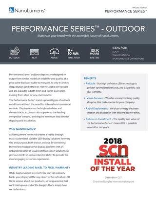 NanoLumens Performance Outdoor