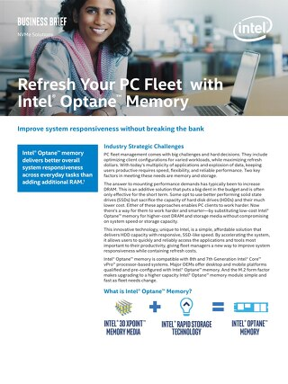 Refresh Your PC Fleet with Intel Optane Memory