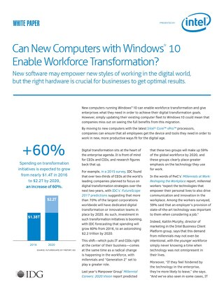 Can New Computers with Windows 10 Enable Workforce Transformation?