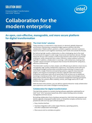 Collaboration for the modern enterprise