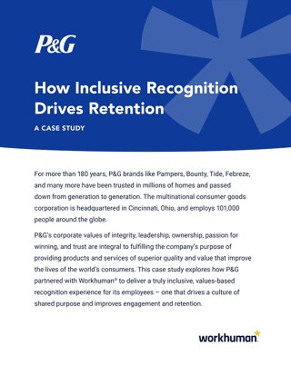 How Inclusive Recognition Drives Retention at P&G