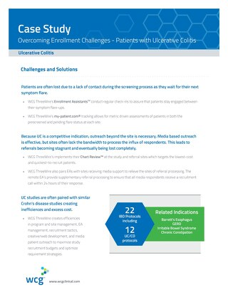 Overcoming Enrollment Challenges: Patients with Ulcerative Colitis