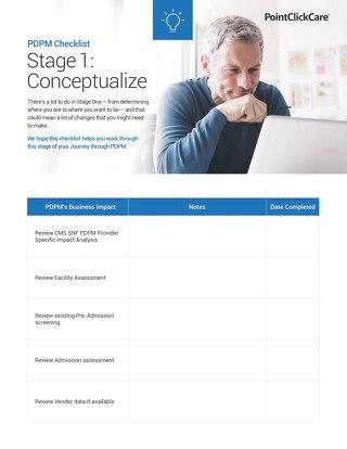 PDPM Checklist - Stage 1 Conceptualize