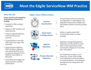 Meet the Edgile ServiceNow IRM Practice