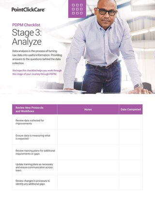 PDPM Checklist - Stage 3 Analyze