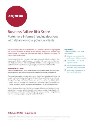 Business Failure Risk Score