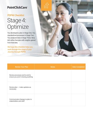 PDPM Checklist - Stage 4 Optimize