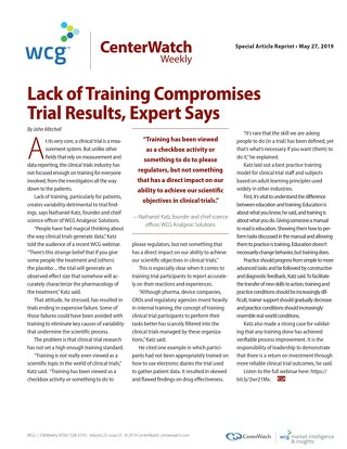 Lack of Training Compromises Trial Results, Expert Says