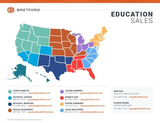 Bretford Education Sales Team Map-2019-elinks