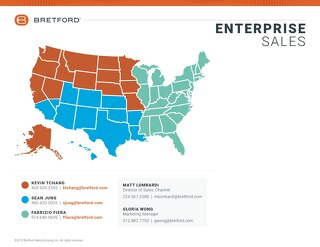 Bretford Enterprise Sales Map