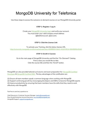 MongoDB University for Telefonica