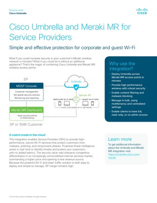 Cisco Umbrella and Meraki MR for SPs