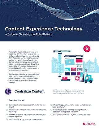Content Experience Platform Vendor Checklist
