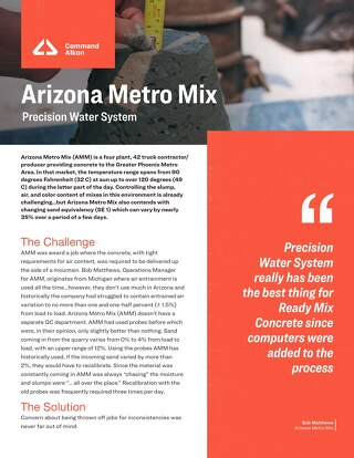 Arizona Metro Mix Precisions Water System Case Study