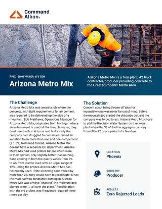 Arizona Metro Mix Precisions Water System Case Study