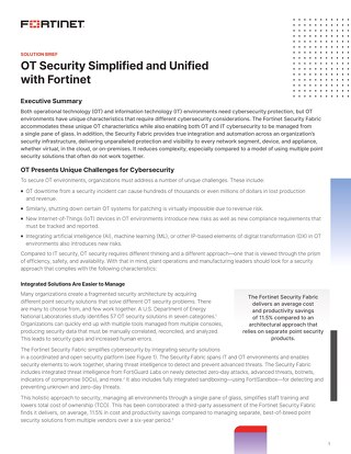 Security Simplified and Unified with Fortinet