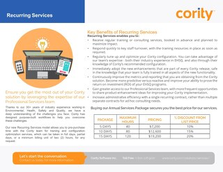 Cority Recurring Services Overview 2019