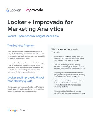 Looker & Improvado Solution Brief: Robust Optmized and Insights Made Easy