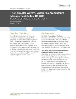 The Forrester Wave™: Enterprise Architecture Management Suites, Q1 2019