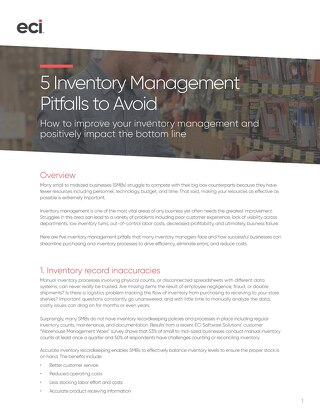 Whitepaper: 5 Inventory Management Pitfalls