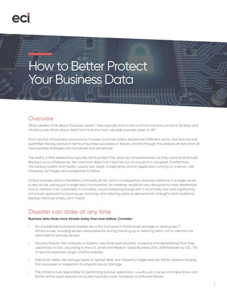 Whitepaper: Better Protect Your Business Data