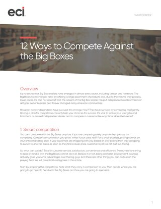 Whitepaper: 12 Ways to Compete Against Big Boxes