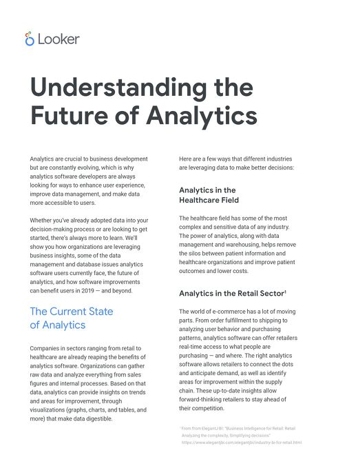 Understanding the Future of Analytics