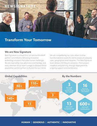 New Signature Corporate Brochure 2019