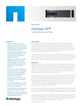 NetApp AFF - Leading the Future of Flash