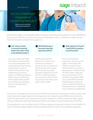 Are You a Healthcare Organization Considering NetSuite