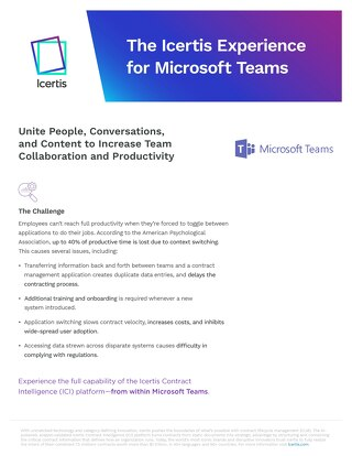 Experience for Microsoft Teams datasheet