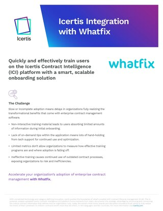 Solution Brief | Icertis Integration with Whatfix