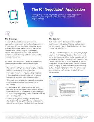 Icertis NegotiateAI App Datasheet